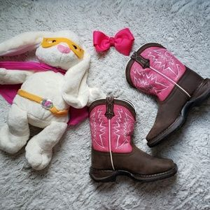 "Pink Flare Rebel 8"" Pull On Durango Boots"